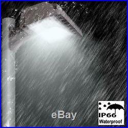 LED Parking Lot Light 200W Shoebox Pole Flood Fixture Commercial Area 5000K IP66
