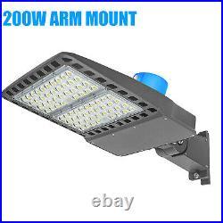 LED Parking Lot Light 200 Watt Commercial Outdoor IP65 Shoebox Street Pole Lamp