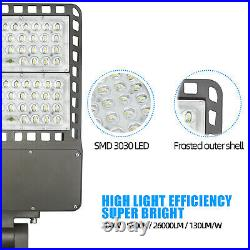 LED Parking Lot Light Commercial Outdoor IP65 Shoebox Street Pole Light 200Watt