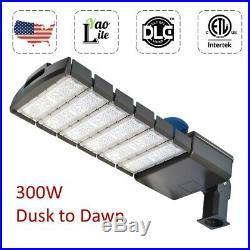 LED Parking Lot Shoebox Light 150 300W Dusk to Dawn Photocell Pole Fixture Area