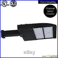 LED Parking Lot Shoebox Pole Light Fixture with Photocell 150 Watt DLC 114