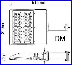 LED Parking Lot Shoebox Pole Light Fixture with Photocell 60-150 Watt DLC 114