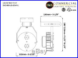 LED Retrofit Kit Light 65 Watt AC100-277V 5000 Kelvin Outdoor Pole