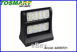 LED Rotating Up and Down Head Wall Pack Light 80 Watt Parking Motel, Warehouse