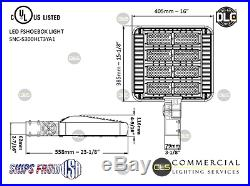 LED Shoebox Parking Lot Pole Light Black 300W AC100-277V 5000K