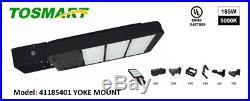 LED Shoebox Pole Light Direct Mount 185 Watt Street Light, Parking Lot 5000K