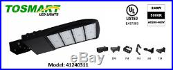 LED Shoebox Slim Black Light 240 Watt AC200-480V, Parking Lot Light, Outdoor