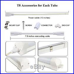 LED Tube Light Fixture T8 8FT 6FT 5FT 4FT 2FT 5000K 6000K 14W-120W Shop Lighting