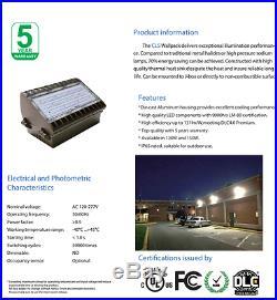 LED Wall Pack Industrial High Security Exterior Light 150 Watt 19,350 Lumens