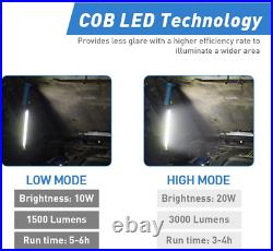 LED Work Light with Tripod Stand, Mechanic Light Bar, Rechargeable 3000 Lumen Un