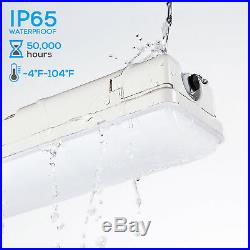 LEONLITE 40W LED Vapor Proof Fixture, 4400lm, 5000K, Pack of 4
