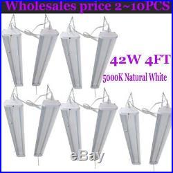 LOT 120 4'LED Shoplights Hanging Shop Light Fixture 5000Lumens Garage Work B2