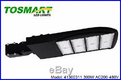 Led Shoebox Slim Black Pole Light 300 Watt AC200-480V Cobra Pole Lamp