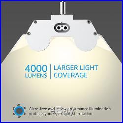 LeonLite 8 PACK 40W 4ft LED Shop Light Utility Ceiling Lights Garage Basement
