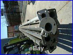 Light/flag Poles, 5 X 20' Steel (round) New