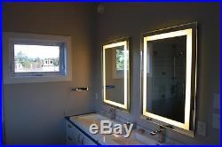 Lighted bathroom vanity make up mirror, led lighted, wall mounted MAM82836 28x36