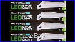 Lot Of 6 4 40W 5000K LED Hanging Work Shop Light Fixture Maxlite SL-48401-50