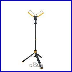 Lutec Work Light w Tripod Integrated LED Heavy Duty Adjustable Height 7000 Lumen