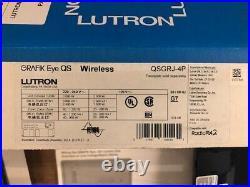 Lutron GRAFIK Eye QS Wireless Controller QSGRJ-4P-TBL(Translucent BK faceplate)
