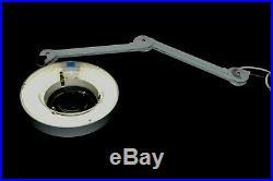 Luxo KFM 17215 Illuminated Magnifier Lamp Light with 30 Flex Arm 120V, 22W
