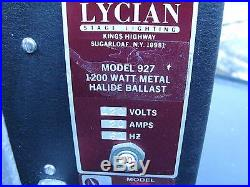 Lycian Stage Lighting Model 927 1200 Watt Metal Halide Ballast