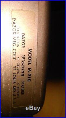 MID Century Modern Dazor M-210 Magnifier Floor Lamp Industrial Floating Fixture