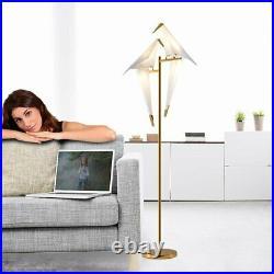 Modern 72in Tall Floor Lamps Crane Bird Gold Metal LED Light Living Room Bedroom