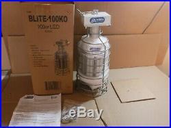 NEW BERGEN BLITE-100KO 100W LED 5000K CORN TEMPORARY WORK LIGHT WithBULB HOOK
