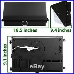 NEW LED 60W Wall Pack Fixture Photo Sensor, Glass Lense, DLC, 5000K