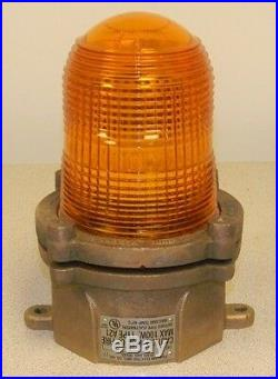 NEW Pauluhn Brass Marine Marker Light 1159BYEL Yellow Globe NIB