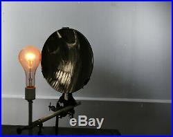 Parabolic reflector Large Vintage Glass Parabolic Lamp