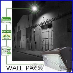 Parking Lot Flood Light Fixtures LED Commercial Industrial Wall 50 Watt Area