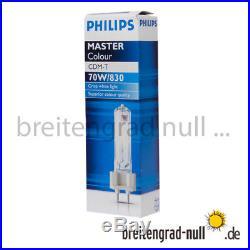 Philips Master Colour CDM-T 70 Watt 830 WDL G12 NEU für HQI HCI HID warmweiß