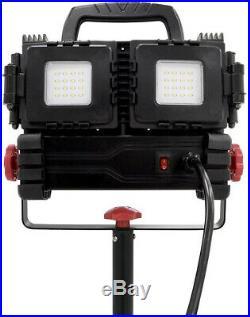 Portable LED Tripod Work Light Multi-Directional 3200-Lumen Garage Job Site Camp