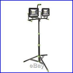 PowerSmith 100-Watt (10,000 Lumens) LED Dual-Head Work Light with Tripod NIB