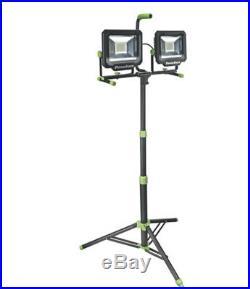 PowerSmith PWL21100TS Dual-Head LED Work Light with Tripod, 100W, 10000 Lumen