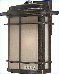 Quoizel GLN8412IB Galen Outdoor Wall Lantern 1-Light 150 Watts Imperial Bronze
