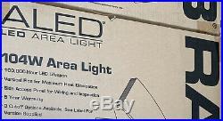 RAB LED Area Pole Light Flood Lighting Parking garage 5100K Bronze 120-277V