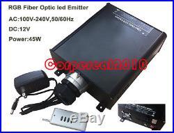 RGB led light source for fiber optic Lighting illuminator with remote controller