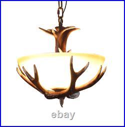 Retro Deer Horn Chandeliers Home Lighting Resin Antler Pendant Ceiling Fixtures