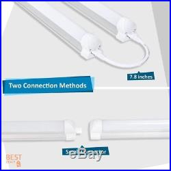 Rigid Shop Light LED Bar Fixture 8-ft Ceiling Utility Lighting Industrial 6 Pack