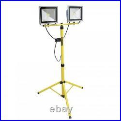 SURTEK REF30X2 LED 2X30 WATTS Work Light Telescoping Tripod Stand Base Shop Gara