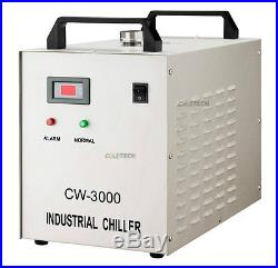 S&A Genuine CW-3000 AG 220V Water Chiller Cool 50W 60W 80W CO2 Laser Tube