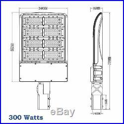 ShoeBox 300W LED Parking Lot Gas WallPack Street Light Fixture UL DLC 300 watt