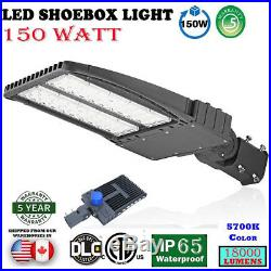 Shoe Box Street Light Adjustable Angle LED Parking Lot Lamp 150W Garden Lamp EK