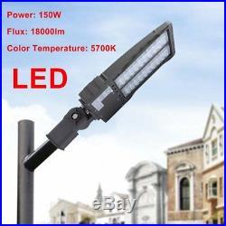 Shoe Box Street Light Adjustable Angle LED Parking Lot Lamp 150W Garden Lamp UR
