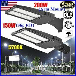 Shoebox 150W 200W LED Parking Lot Gas WallPack Street Light Fixture UL DLC US BE