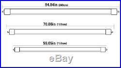 Single Pin 8FT 40Watt F96T12 Led Tube Light Bulb Fluorescent Replacement 5500K