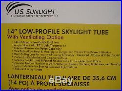 SunLight 14 Low-Profile Skylight Tube 2114ST-8 Spectrum with Ventilation Option