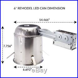 Sunco 12pack 6 inch REMODEL LED Can Air Tight IC Housing LED Recessed Lighting